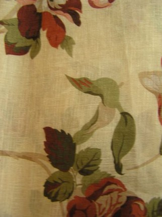Curtains with flower design - Kapron semi transparent