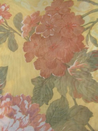 Curtains with flower design - Kapron transparent