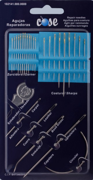 Sewing and Embroidery needdles - Repair needles assortments