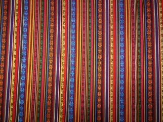 Fabric with strips for folk costume - fabrics shop Pluss Audums